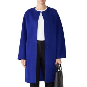 Theory Cashmere and Wool Blue Ling Coat NWT!